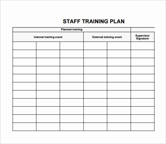 Employee Training Plan Template Word Awesome Employee Training Plan Template