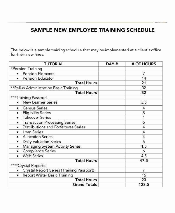 Employee Training Plan Template Word Awesome New Employee orientation Schedule Template