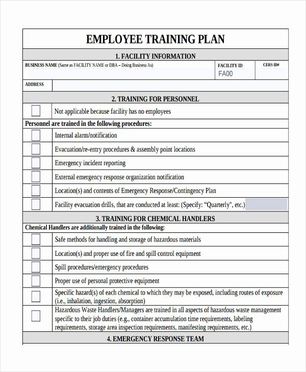 Employee Training Plan Template Word Lovely 10 Training Plan Examples Samples