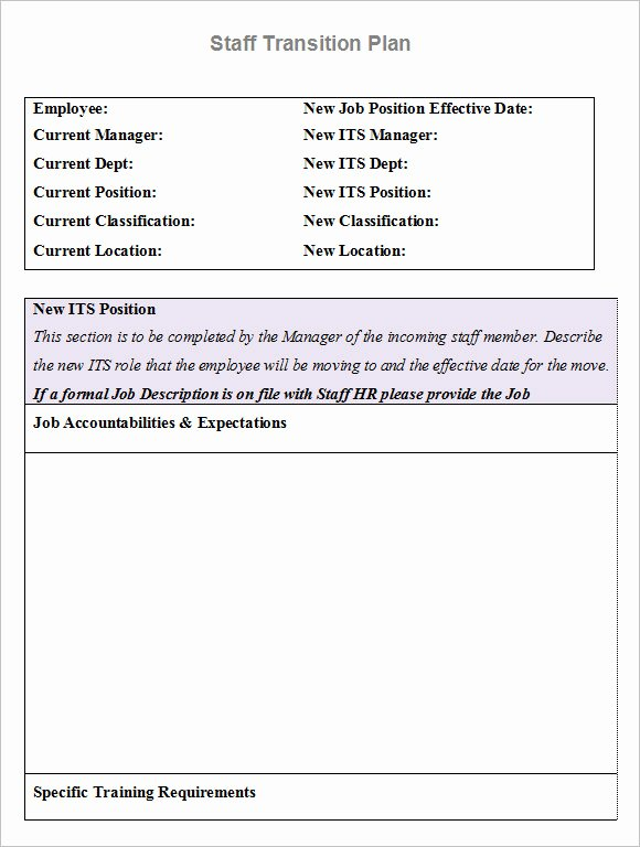 Employee Transition Plan Template Elegant 9 Transition Plan Samples