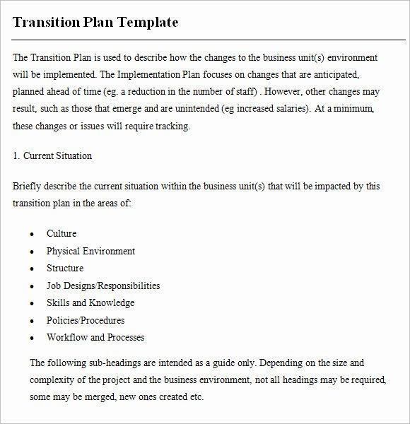 Employee Transition Plan Template New 9 Transition Plan Samples
