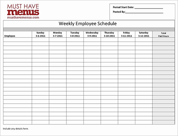 Employee Work Plan Template Awesome Employee Schedule Templates 14 Free Sample Example