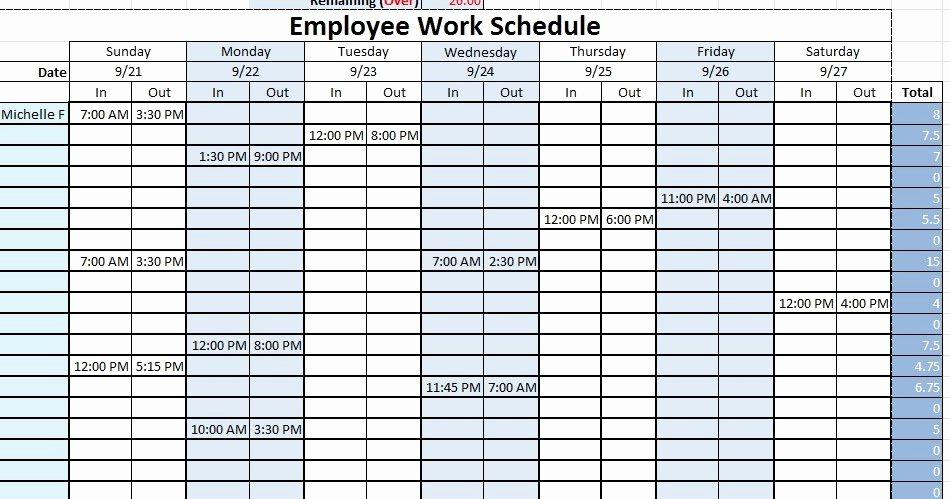 Employee Work Plan Template Beautiful Employee Work Schedule Template Sample