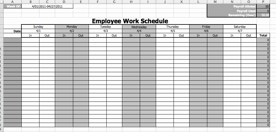 Employee Work Plan Template Best Of Employee Work Schedule Template Microsoft Fice Templates