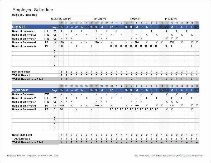 Employee Work Plan Template Inspirational Employee Schedule Template