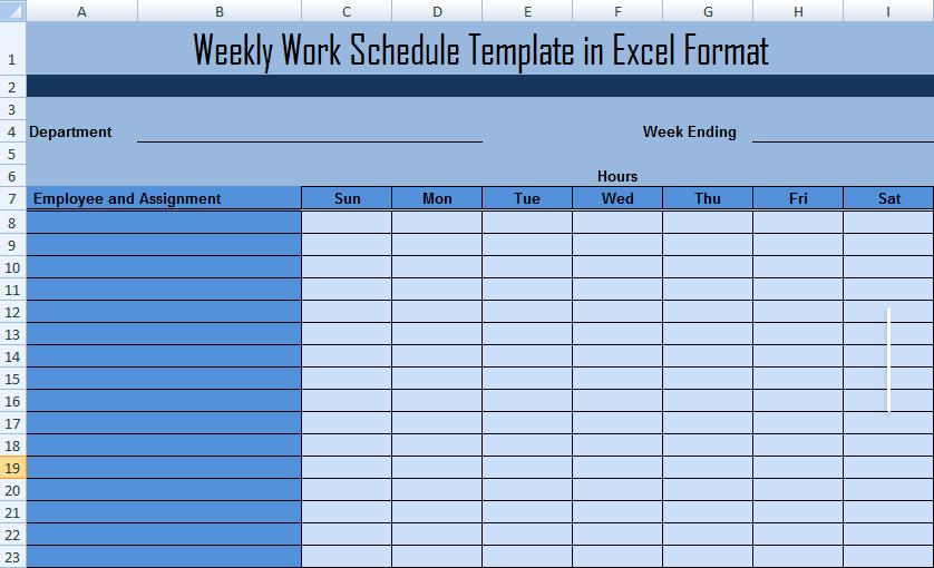 Employee Work Plan Template Luxury Work Schedule Template