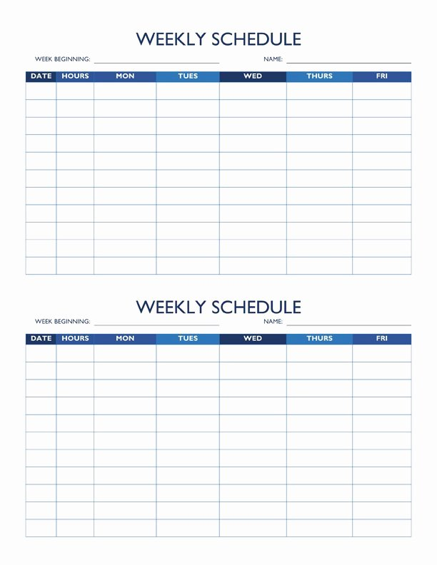 Employee Work Plan Template Unique Free Work Schedule Templates for Word and Excel