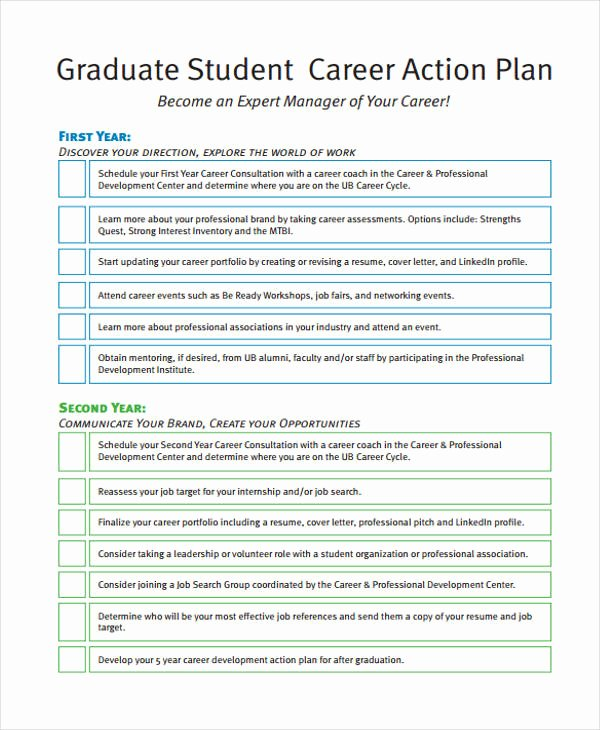 Employment Action Plan Template Awesome 8 Student Action Plan Templates Free Sample Example