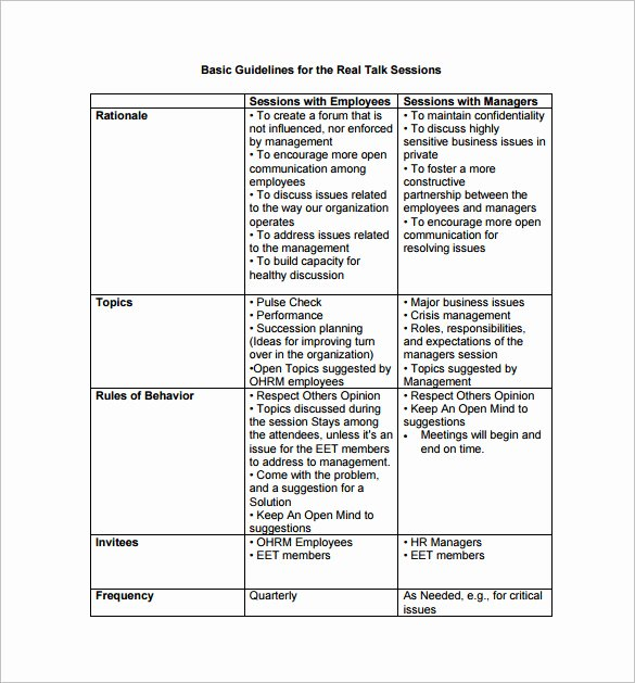 Employment Action Plan Template Elegant Employee Action Plan Template 14 Free Word Excel Pdf