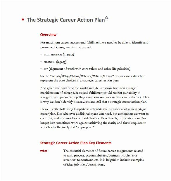 Employment Action Plan Template Elegant Sample Career Plan 11 Documents In Pdf Word