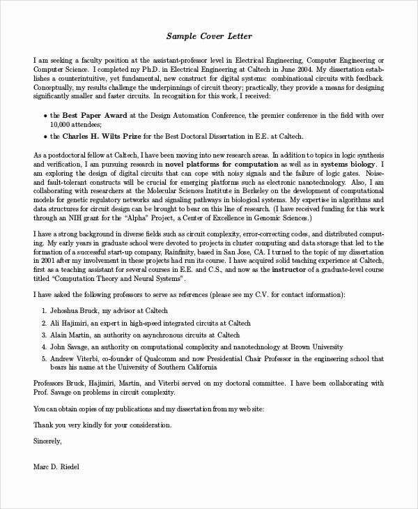 Engineer Cover Letter format Lovely 7 Sample Engineering Cover Letters