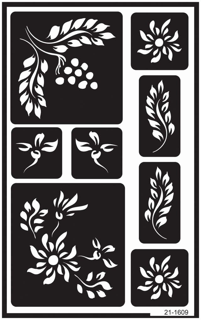 """Engraving Templates Letters Awesome Berries Over N Over Reusable Glass Etching Stencils 5""""x8"""