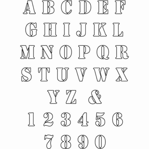 Engraving Templates Letters Best Of Free Patterns to Print Out