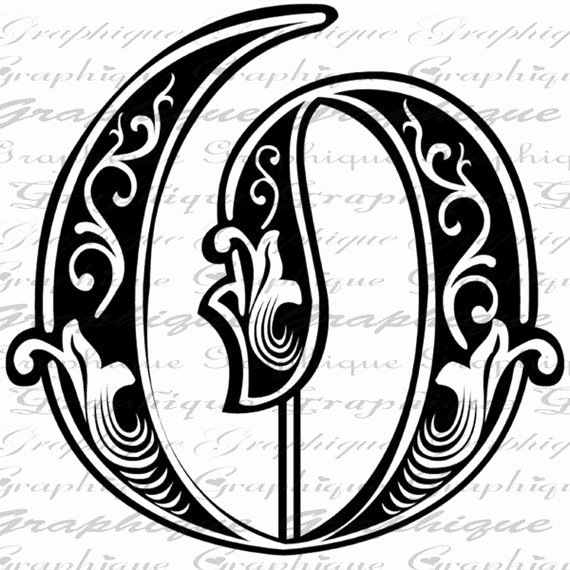 Engraving Templates Letters Lovely Letter Initial O Monogram Old Engraving Style Type by