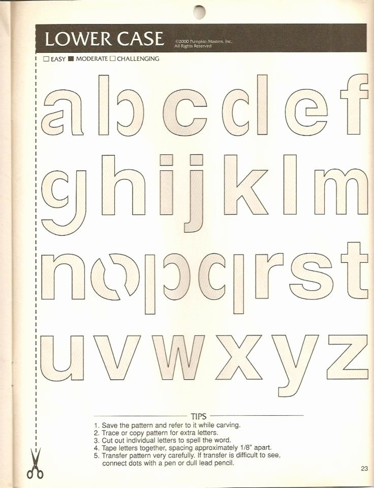 Engraving Templates Letters Luxury Pumpkin Carving Letter Template