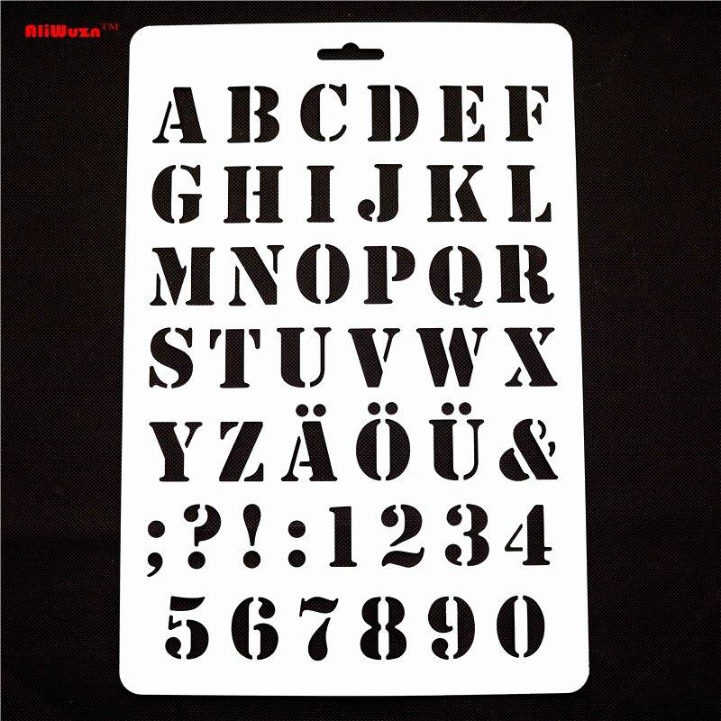 Engraving Templates Letters New 1pcs 30 5 21cm English Alphanumeric Pattern Engraving