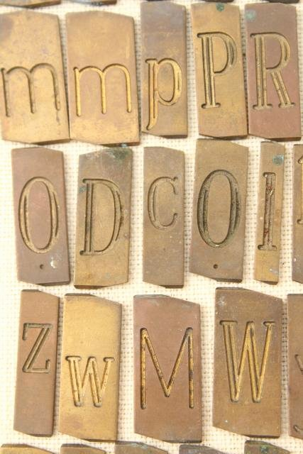 Engraving Templates Letters New Vintage solid Brass Engraving Scribe Letters Antique Font
