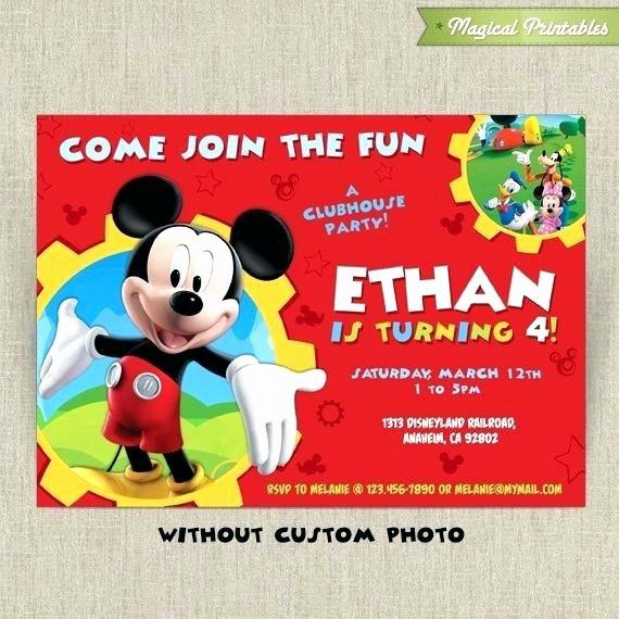 Epcs Gold Invite Consume Unique Interesting Mickey Mouse Invitations Party Printable