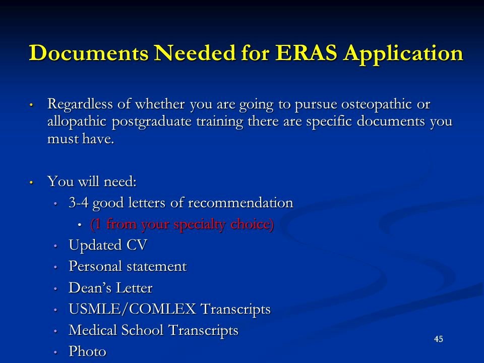 Eras Letter Of Recommendation Best Of A D O Student's Guide to Residency Ppt