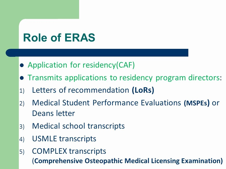 Eras Letter Of Recommendation Fresh Getting Into Residency Seminar Ppt Video Online