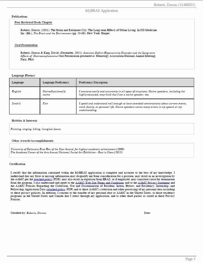 Eras Letter Of Recommendation Sample New Sample Eras Application