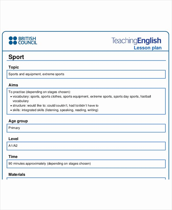 Esl Lesson Plan Template Awesome 40 Lesson Plan Samples