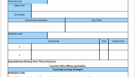 Esl Lesson Plan Template Beautiful English Lesson Plan Template – Microsoft Word Templates