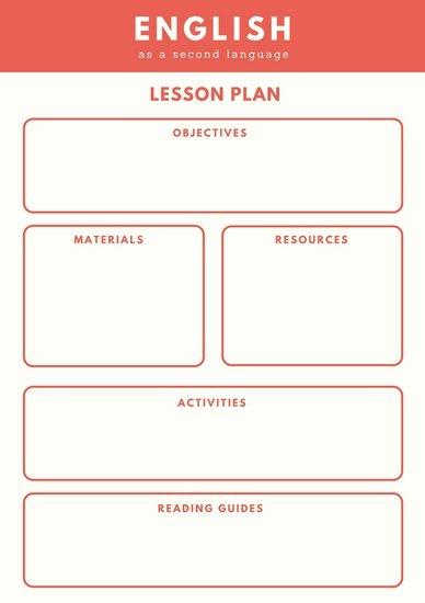 Esl Lesson Plan Template New Customize 1 304 Lesson Plan Templates Online Canva