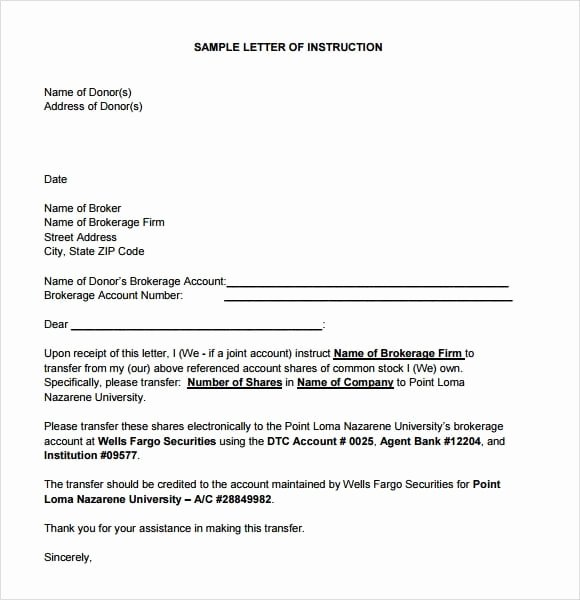 Estate Planning Letter Of Instruction Template Fresh Estate Planning Letter Instruction Template