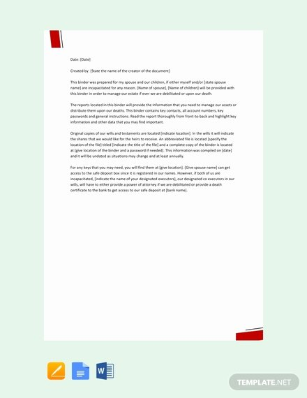 Estate Planning Letter Of Instruction Template Lovely Free Letter Of Instruction to Employee Template Download