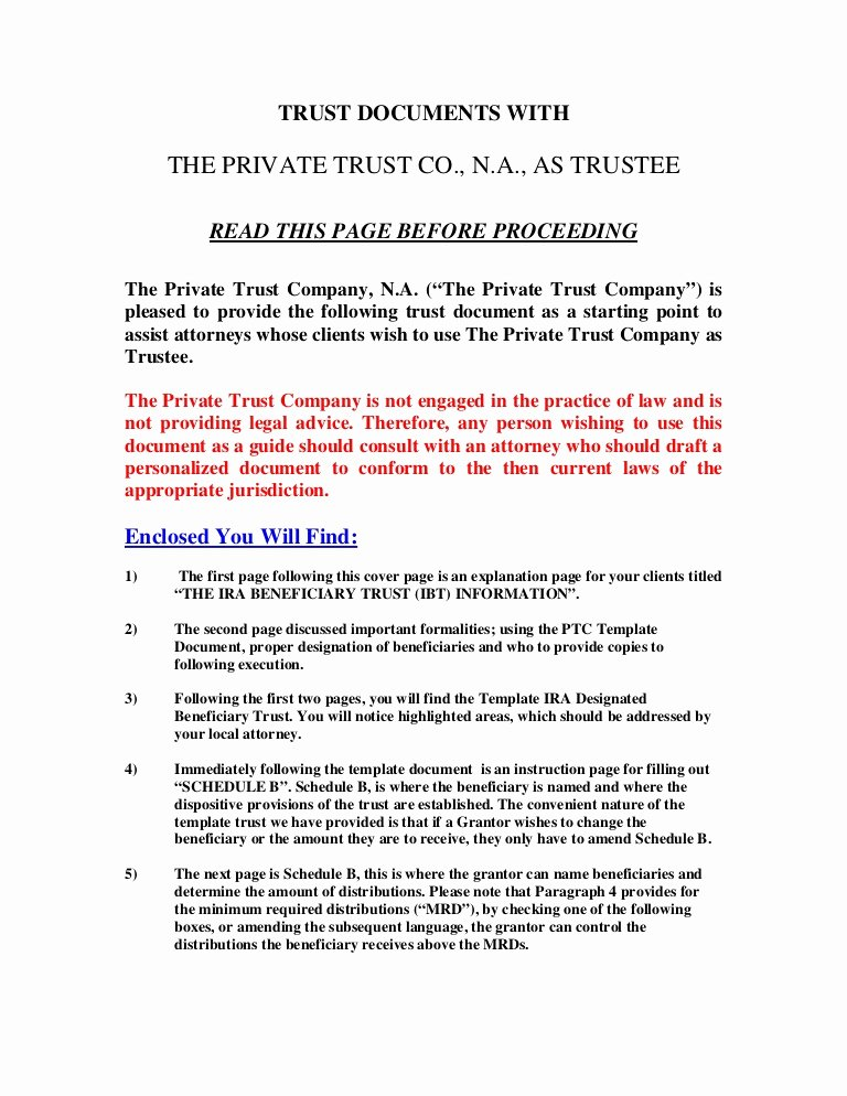 Estate Planning Letter Of Instruction Template Unique Microsoft Word Ira Trust Template
