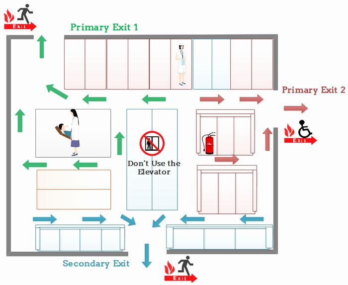 Evacuation Floor Plan Template Inspirational Evacuation Floor Plan for Hospital Emergency