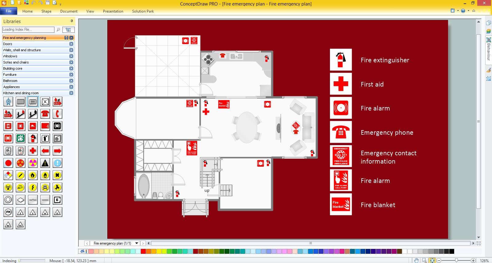 Evacuation Floor Plan Template Unique Emergency Plan