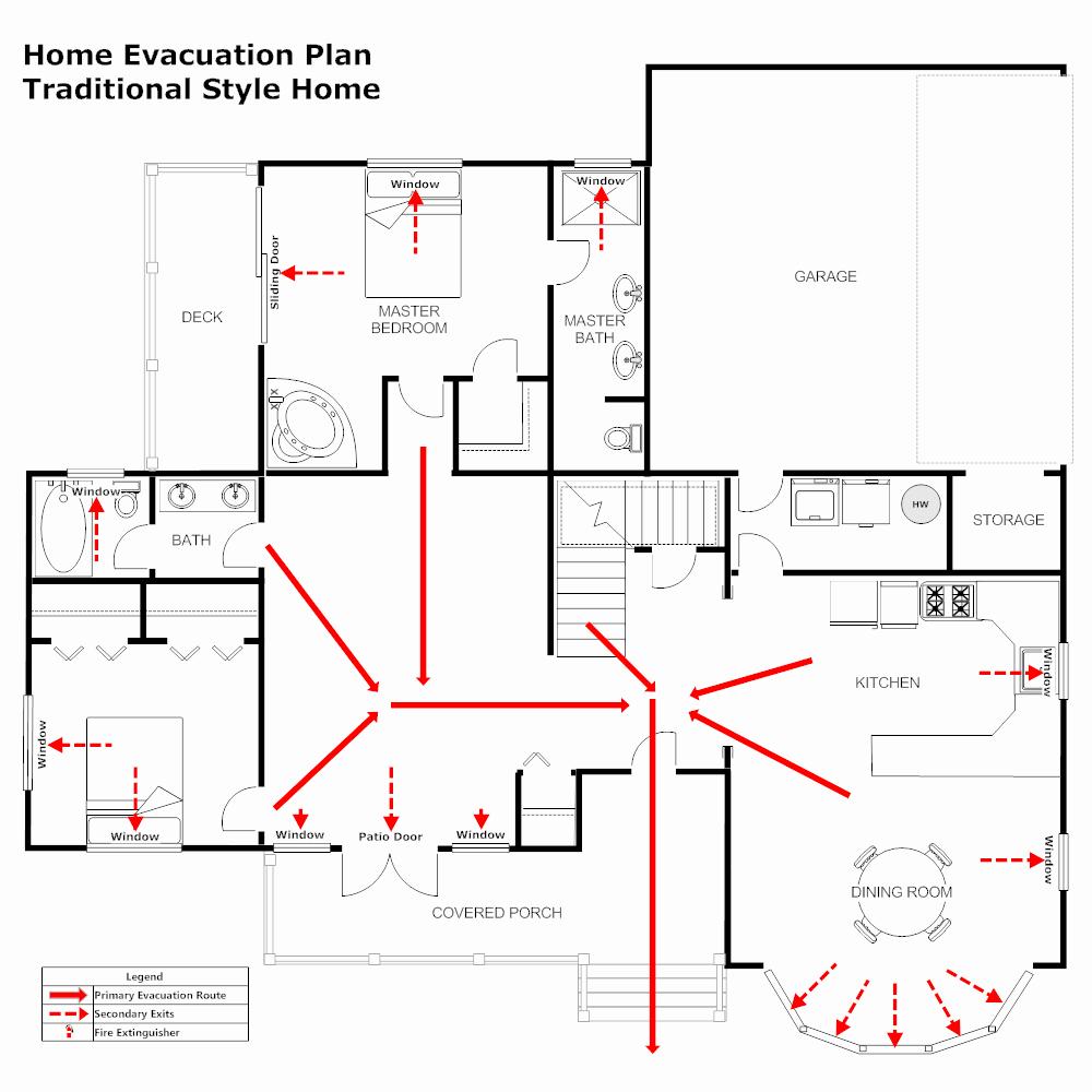 Evacuation Floor Plan Template Unique Residential Evacuation Plan 3