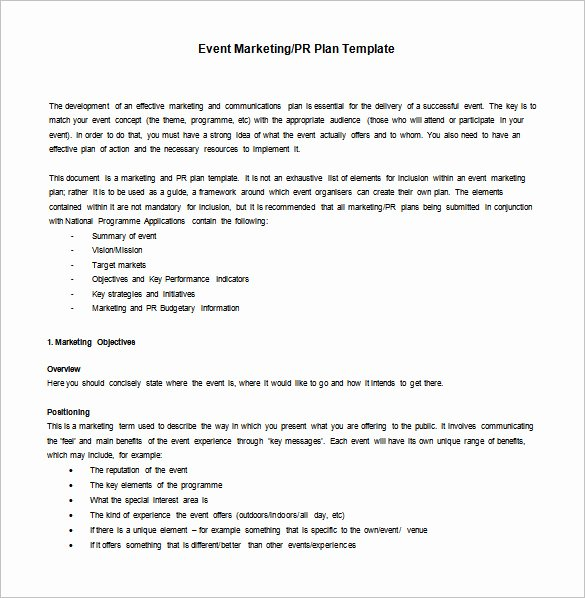 Event Marketing Plan Template Beautiful 8 Marketing Action Plan Templates Doc Pdf
