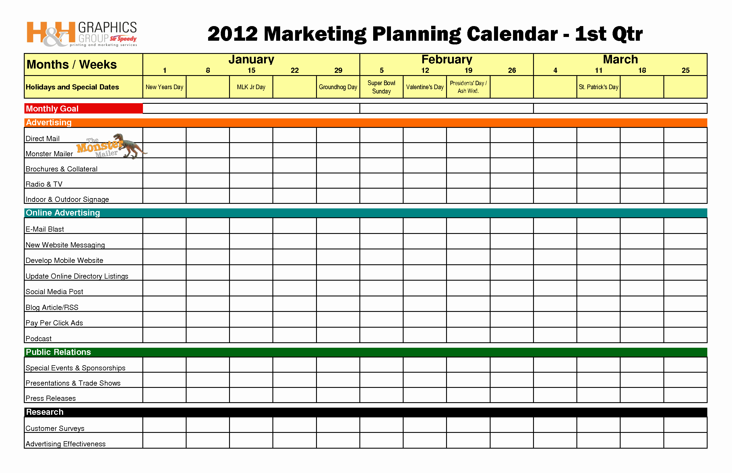 Event Marketing Plan Template Best Of Quarterly Marketing Plan Bing Images