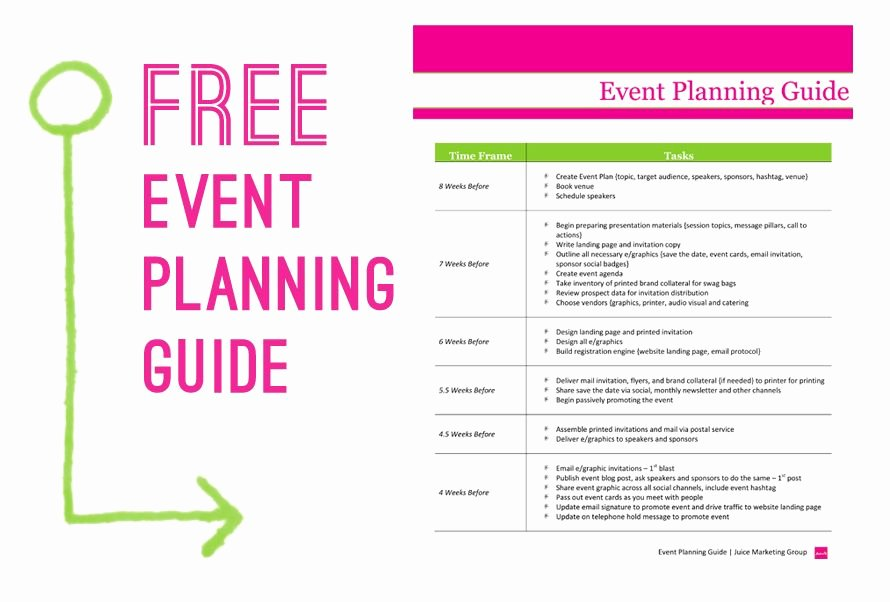 Event Marketing Plan Template Luxury Free event Planning Template Via Juice Marketing Group