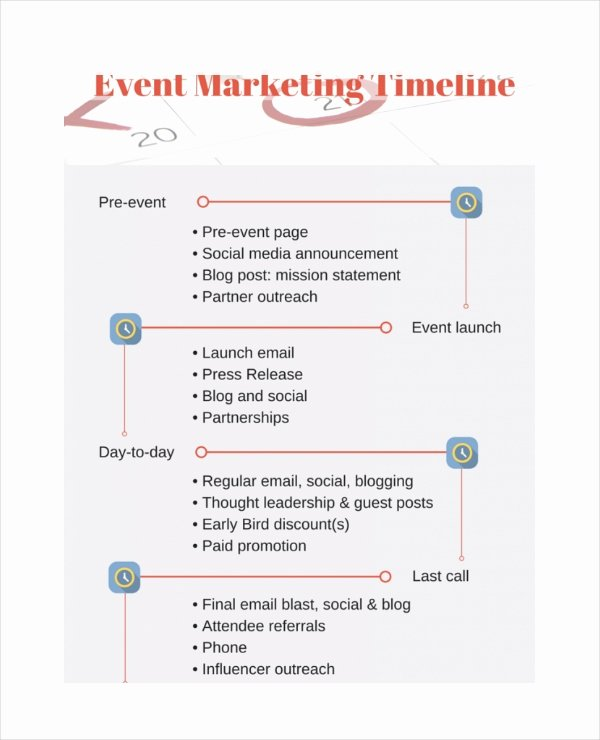 Event Marketing Plan Template New Marketing Timeline Template – 7 Free Excel Pdf Documents