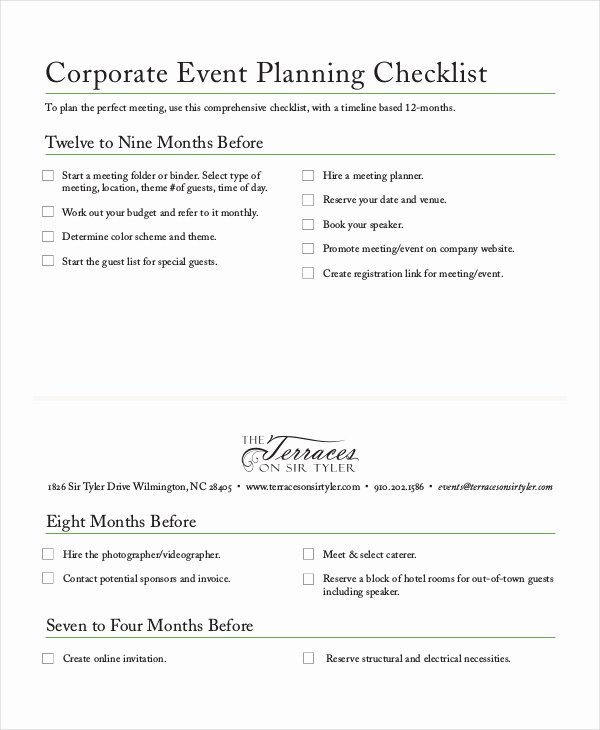 Event Planning Business Plan Template Best Of Checklist Template 19 Free Word Excel Pdf Documents