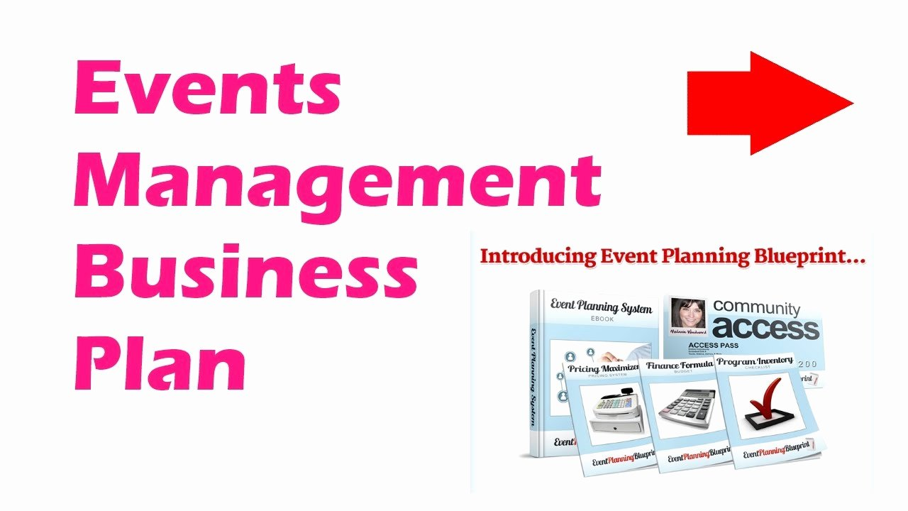 Event Planning Business Plan Template Inspirational events Management Business Plan