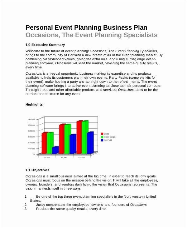 Event Planning Business Plan Template Luxury event Planning Template 11 Free Word Pdf Documents