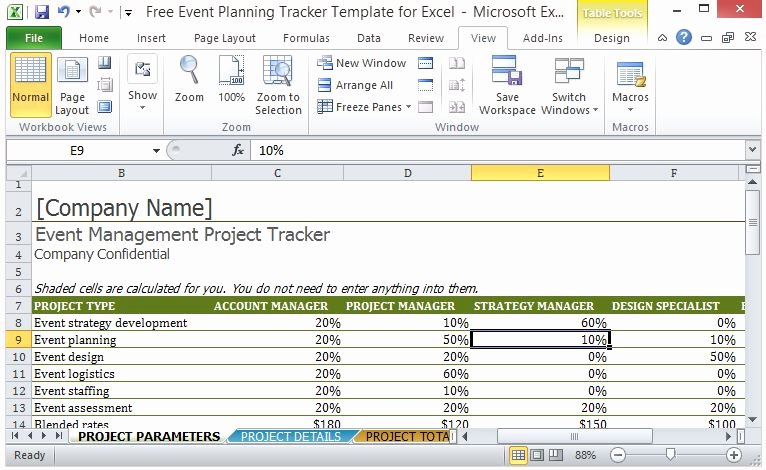Event Project Plan Template Best Of Free event Planning Tracker Template for Excel