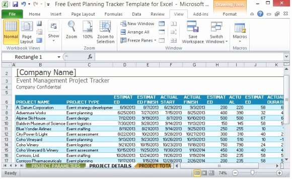 Event Project Plan Template Excel Inspirational Free event Planning Tracker Template for Excel