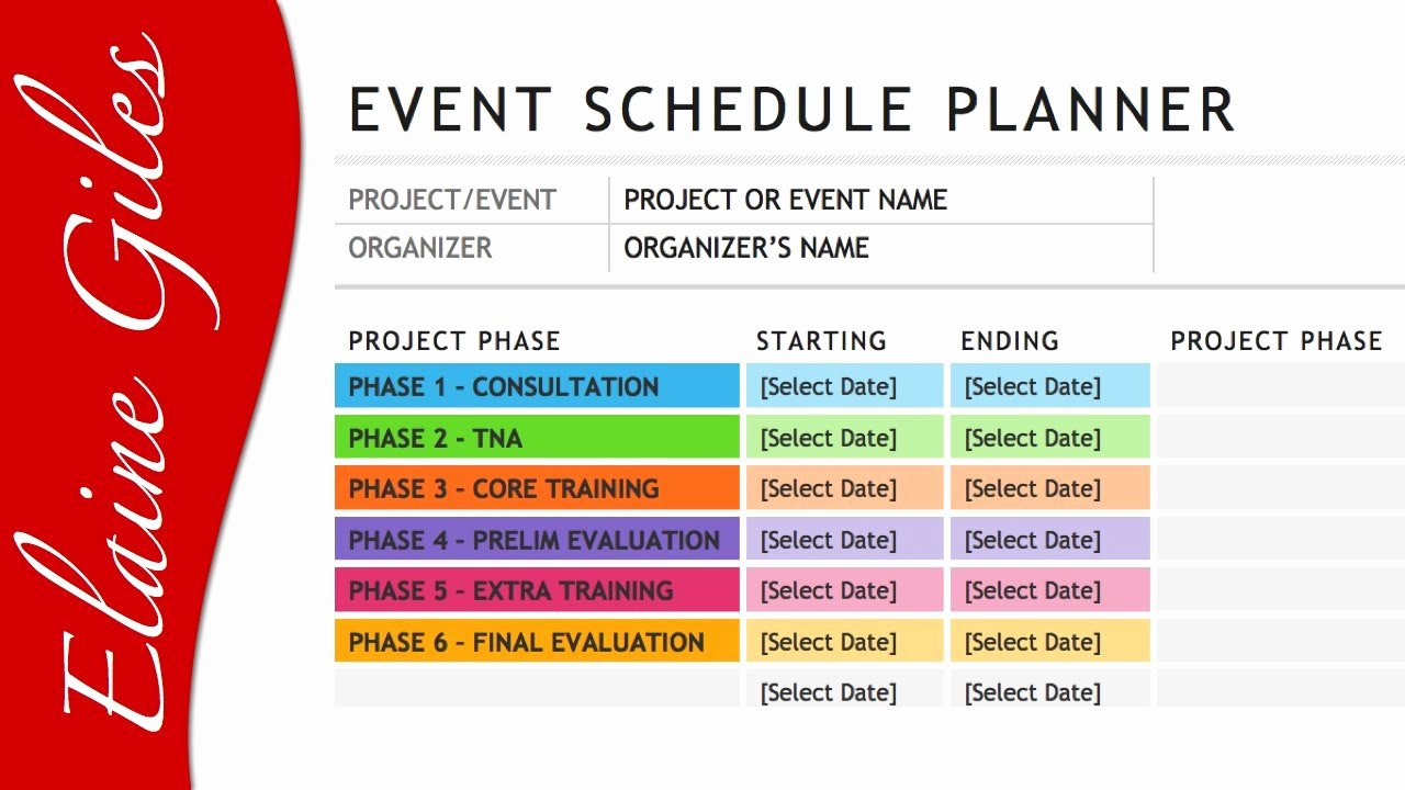 Event Project Plan Template Excel Luxury Microsoft Word 2013 Schedule Template