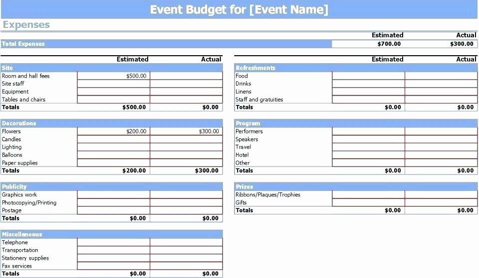 Event Project Plan Template Excel Unique event Bud Template Excel Free Project Planning