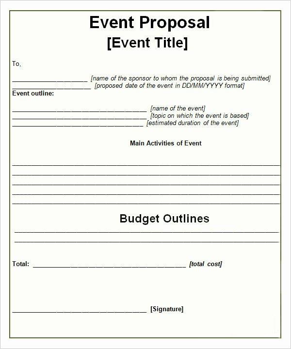 Event Venue Business Plan Template Beautiful 30 Sample event Proposal Templates Psd Pdf Word
