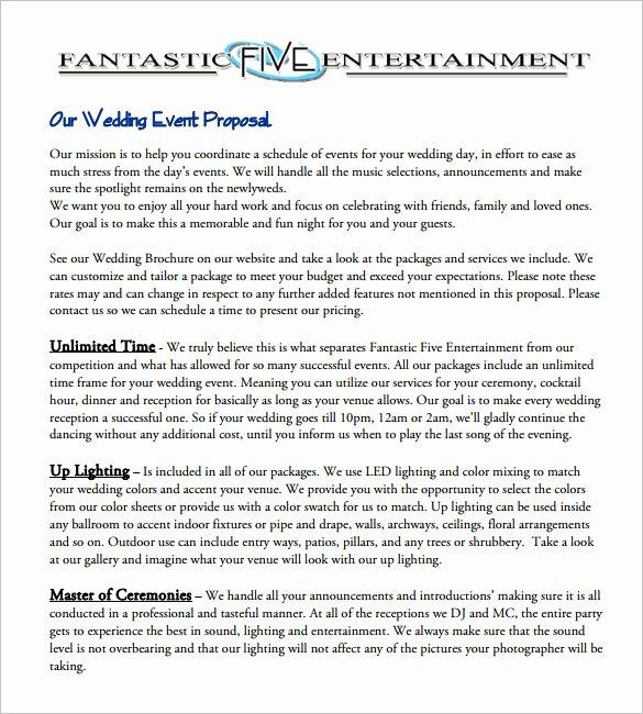 Event Venue Business Plan Template Fresh 28 event Proposal Templates Pdf Doc