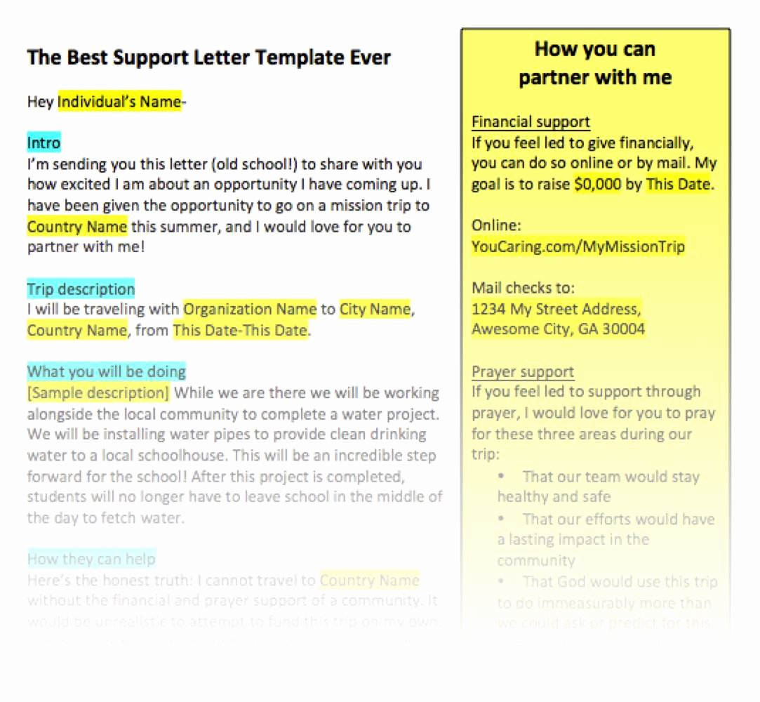 Examples Of Mission Trip Fundraising Letters Elegant Fundraising