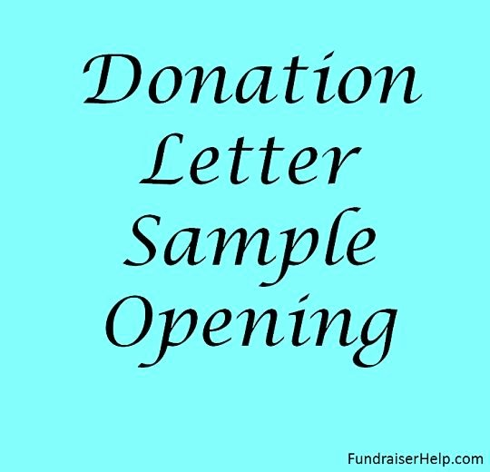 Examples Of Mission Trip Fundraising Letters Inspirational Donation Letter Sample Opening Fundraising