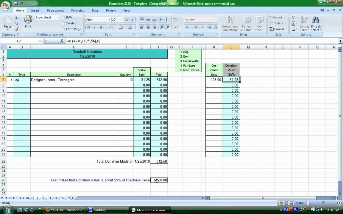 Excel Donation List Template Lovely Donation Spreadsheet Instructions